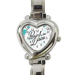 Panic At The Disco Quote Heart Italian Charm Watch by Samandel