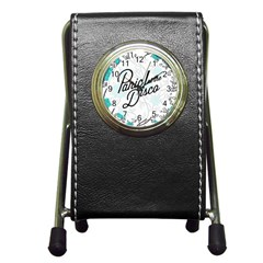 Panic At The Disco Quote Pen Holder Desk Clocks by Samandel