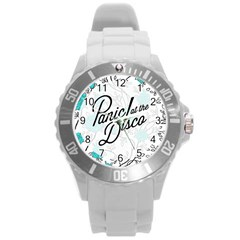 Panic At The Disco Quote Round Plastic Sport Watch (l) by Samandel