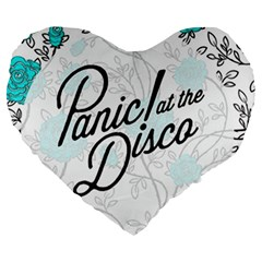Panic At The Disco Quote Large 19  Premium Flano Heart Shape Cushions by Samandel