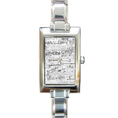 Panic At The Disco Lyrics Rectangle Italian Charm Watch by Samandel