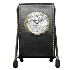 Panic At The Disco Lyrics Pen Holder Desk Clocks by Samandel