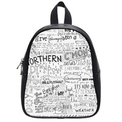 Panic At The Disco Lyrics School Bag (small) by Samandel