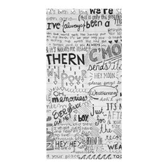 Panic At The Disco Lyrics Shower Curtain 36  X 72  (stall)  by Samandel