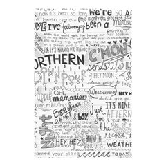 Panic At The Disco Lyrics Shower Curtain 48  X 72  (small)  by Samandel