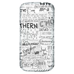 Panic At The Disco Lyrics Samsung Galaxy S3 S Iii Classic Hardshell Back Case by Samandel