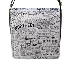 Panic At The Disco Lyrics Flap Messenger Bag (l)