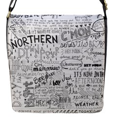 Panic At The Disco Lyrics Flap Messenger Bag (s) by Samandel