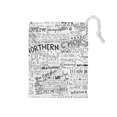 Panic At The Disco Lyrics Drawstring Pouches (medium)  by Samandel