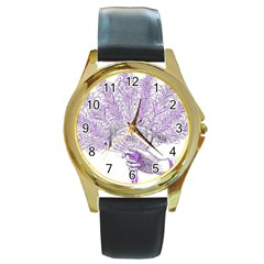 Panic At The Disco Round Gold Metal Watch by Samandel