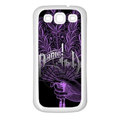 Panic At The Disco Samsung Galaxy S3 Back Case (white) by Samandel