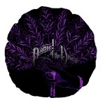 Panic At The Disco Large 18  Premium Flano Round Cushions Back