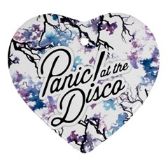 Panic! At The Disco Heart Ornament (two Sides) by Samandel