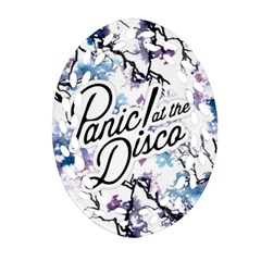 Panic! At The Disco Oval Filigree Ornament (two Sides) by Samandel