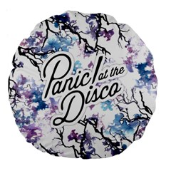 Panic! At The Disco Large 18  Premium Flano Round Cushions by Samandel
