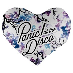 Panic! At The Disco Large 19  Premium Flano Heart Shape Cushions by Samandel