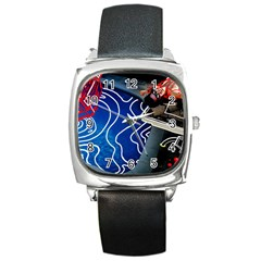 Panic! At The Disco Released Death Of A Bachelor Square Metal Watch