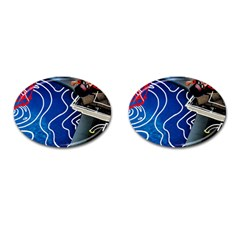 Panic! At The Disco Released Death Of A Bachelor Cufflinks (oval) by Samandel