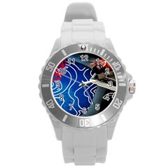 Panic! At The Disco Released Death Of A Bachelor Round Plastic Sport Watch (l) by Samandel