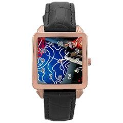 Panic! At The Disco Released Death Of A Bachelor Rose Gold Leather Watch  by Samandel