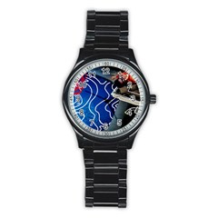 Panic! At The Disco Released Death Of A Bachelor Stainless Steel Round Watch by Samandel