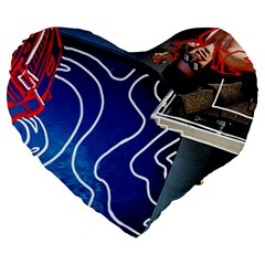 Panic! At The Disco Released Death Of A Bachelor Large 19  Premium Flano Heart Shape Cushions by Samandel