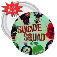 Panic! At The Disco Suicide Squad The Album 3  Buttons (100 Pack)  by Samandel