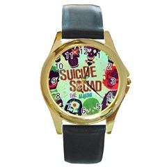 Panic! At The Disco Suicide Squad The Album Round Gold Metal Watch