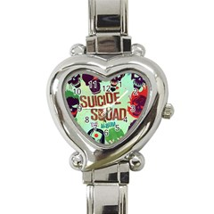 Panic! At The Disco Suicide Squad The Album Heart Italian Charm Watch by Samandel