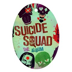Panic! At The Disco Suicide Squad The Album Oval Ornament (two Sides) by Samandel
