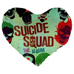 Panic! At The Disco Suicide Squad The Album Large 19  Premium Heart Shape Cushions by Samandel