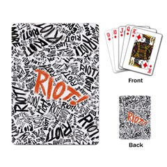 Paramore Is An American Rock Band Playing Card by Samandel