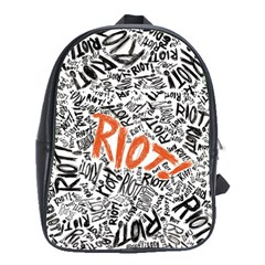 Paramore Is An American Rock Band School Bag (large) by Samandel