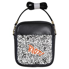 Paramore Is An American Rock Band Girls Sling Bags by Samandel
