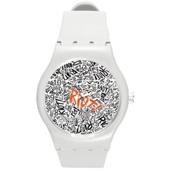 Paramore Is An American Rock Band Round Plastic Sport Watch (m) by Samandel