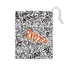 Paramore Is An American Rock Band Drawstring Pouches (large)  by Samandel