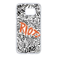 Paramore Is An American Rock Band Samsung Galaxy S7 Edge White Seamless Case by Samandel