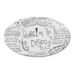Panic! At The Disco Lyrics Oval Magnet