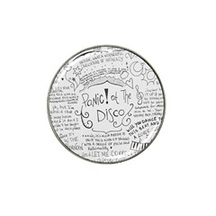 Panic! At The Disco Lyrics Hat Clip Ball Marker by Samandel