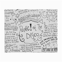 Panic! At The Disco Lyrics Small Glasses Cloth by Samandel