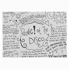 Panic! At The Disco Lyrics Large Glasses Cloth (2 Side) by Samandel