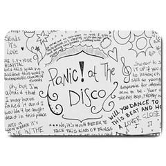 Panic! At The Disco Lyrics Large Doormat  by Samandel