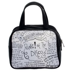 Panic! At The Disco Lyrics Classic Handbags (2 Sides) by Samandel