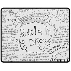 Panic! At The Disco Lyrics Fleece Blanket (medium)  by Samandel