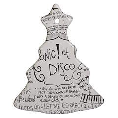 Panic! At The Disco Lyrics Christmas Tree Ornament (two Sides)