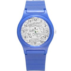 Panic! At The Disco Lyrics Round Plastic Sport Watch (s)
