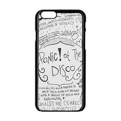 Panic! At The Disco Lyrics Apple Iphone 6/6s Black Enamel Case
