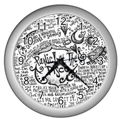 Panic! At The Disco Lyric Quotes Wall Clocks (silver)  by Samandel