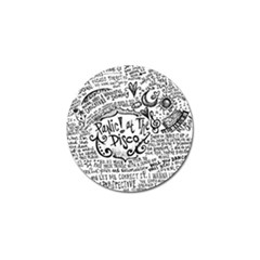 Panic! At The Disco Lyric Quotes Golf Ball Marker by Samandel