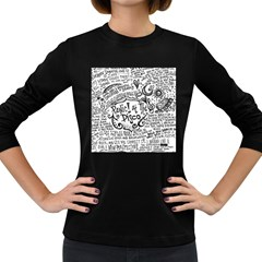 Panic! At The Disco Lyric Quotes Women s Long Sleeve Dark T Shirts